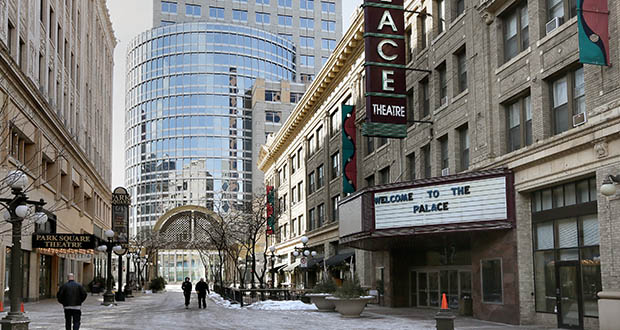 The city of St. Paul hopes to start demolition and abatement work this spring on a $14 million renovation of the century-old Palace Theatre at 17 W. Seventh Place in St. Paul. (Staff photo: Bill Klotz)