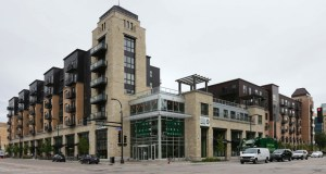 The 286-unit 222 Hennepin apartments in downtown Minneapolis opened in August 2013. The complex includes a 40,000-square-foot Whole Foods Market store. (File photo: Bill Klotz)