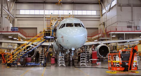 AAR Aircraft Services maintains and services Air Canada's Airbus Narrow-Body fleet at a former Northwest Airlines facility at the Duluth airport. (Submitted photos)