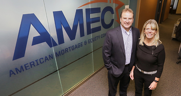 Todd and Stacey Ellestad founded American Mortgage & Equity Consultants with four partners in 2007. (Staff photo: Bill Klotz)