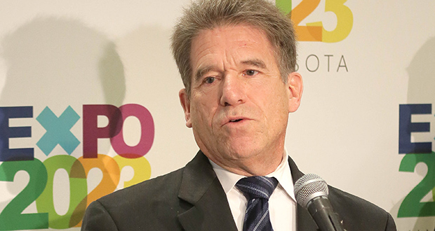 Former Minnesota Secretary of State Mark Ritchie, chair of the Expo 2023 advisory committee, on Friday formally announced a campaign to bring the World's Fair to Minnesota. (Staff photo: Bill Klotz)