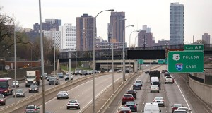 The Minnesota Department of Transportation opened bids Friday for a project that's designed to create a smoother ride on Interstate 394 in Minneapolis and Golden Valley, including this stretch of road as seen from Wirth Parkway. (Staff photo: Bill Klotz)