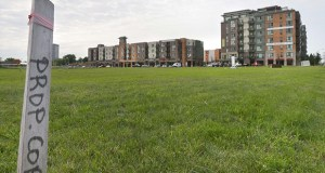 United Properties plans to develop three vacant acres at 8001 Penn Ave. S., just south of the 234-unit Genessee apartments and townhomes. The city of Bloomington rezoned a 160-acre district to allow for more high density, transit-supportive projects. (File photo: Bill Klotz)