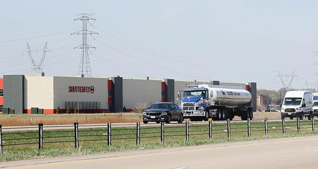 Highway 169 between Shakopee and downtown Minneapolis will be studied as a bus rapid transit corridor. The area has seen rapid job growth in the last two years, including at the new Shutterfly Inc. production hub at Canterbury Road. (Staff photo: Bill Klotz)