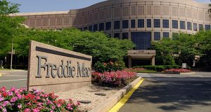 Freddie Mac headquarters in McLean, Virginia, are pictured on June 5, 2007. The mortgage financier reported first-quarter net income of $524 million on Tuesday. (Bloomberg file photo)