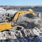 Crews do demolition work at the Saints ballpark site in January 2014. (File photo: Bill Klotz)