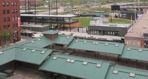 The St. Paul Saints will open CHS Field on Thursday. The team, as well as partners at the city and Metro Transit, is encouraging people to use transit to get to games and to explore the Lowertown area. (Staff photo: Bill Klotz)