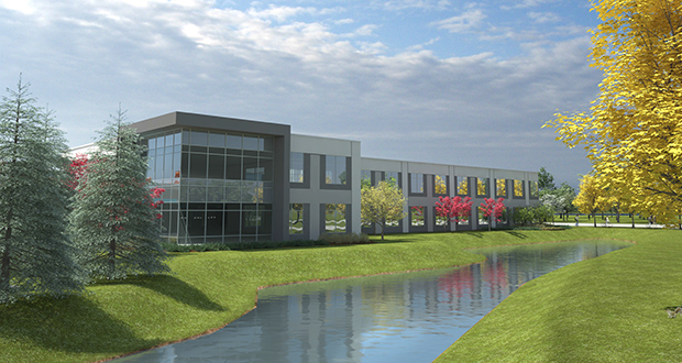 CenterPoint Energy has proposed a new 64,000-square-foot office-warehouse at 6161 Golden Valley Road in Golden Valley. The project could be ready for occupancy next year. (Submitted rendering)