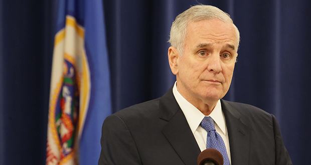 A pair of vetoes issued issued by Gov. Mark Dayton on Saturday add a thicket of complications to pre-session negotiations. (File photo: Bill Klotz)