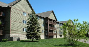 The 304-unit White Bear Woods apartments, at 4776 Centerville Road in White Bear Lake, were built in 1988. The apartments sold last month for $37.6 million. (Submitted photo)