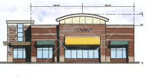 This rendering shows the plans for Park Place on France, a new restaurant and retail center at 10700 France Ave. S., Bloomington. (Submitted image: Architectural Consortium LLC)
