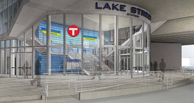Part of the $150 million access project includes a new $47 million two-level median transit station at Lake Street in Minneapolis, which will serve the future Orange Line bus rapid transit route. (Submitted image)