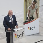 TCF Bank president Craig Dahl speaks during a celebration at the bank's new corporate campus in Plymouth.