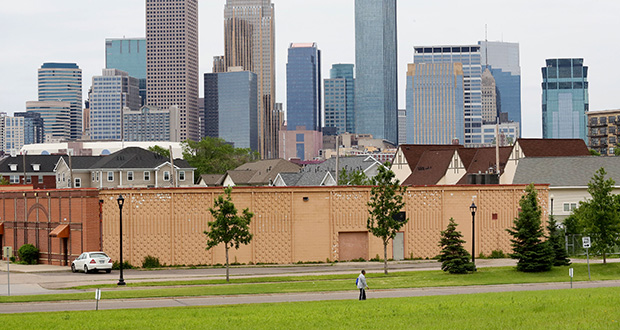 In the southwest quadrant of Van White Memorial Boulevard and Olson Memorial Highway, the Minneapolis Public Housing Authority owns 4.8 acres that could be targeted for residential, commercial or mixed-use development. (Staff photo: Bill Klotz)