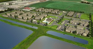 Continental Properties will build a gated complex with 228 apartments in 12 buildings on a site east of South Broadway and north of Highway 52 in Rochester. (Submitted image: Continental Properties)