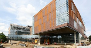 A key project milestone is coming up in July, when the construction trailers will be demobilized from the site of the University of Minnesota's Ambulatory Care Center in Minneapolis. (Staff photo: Bill Klotz)