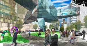 Officials in charge of mapping out a development strategy for Rochester's expansive Destination Medical Center build-out on Thursday unveiled their biggest priorities over the next year, including transportation and the development of a pair of sub-districts, including Discovery Square shown above. (Submitted rendering)