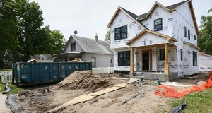 The National Association of Home Builders/Wells Fargo reported its sentiment gauge held at 60 in July, matching the previous month as the highest since November 2005. This photo shows a home under construction July 9 at 3852 S. 37th Ave. in Minneapolis. (File photo: Bill Klotz)