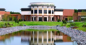 Becker Furniture World flagship campus includes 250,000 square feet of retail space on a 16.6-acre campus in its namesake town, about an hour northwest of Minneapolis. (Submitted photo: CoStar)