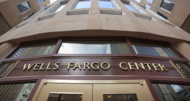 Wells Fargo's second-quarter revenue rose 1 percent compared to the same period a year earlier.  Gains were helped by higher debit and credit card fees, as well as higher income from interest payments. (File photo: Bill Klotz)
