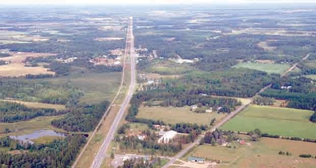 Three contractors are finalists to work on a $58 million project to expand this stretch of Highway 371 from Nisswa to Jenkins. A design-build contractor will be selected Oct. 14. (Submitted photo: MnDOT)