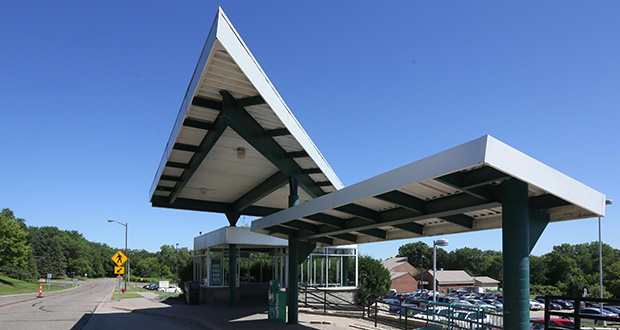 A new Red Line stop at Palomino Drive and Cedar Avenue in Apple Valley could draw 410 daily boardings, according to a new update about the Red Line service. A new station would be built near this existing 318-stall park-and-ride. (Staff photo: Bill Klotz)