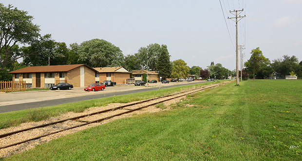Nearly 200 new senior housing units may be coming to Richfield, including a proposed 100-unit development on this former city garage site along the south side of 76th Street between Pillsbury and Pleasant avenues. (Staff photo: Bill Klotz)