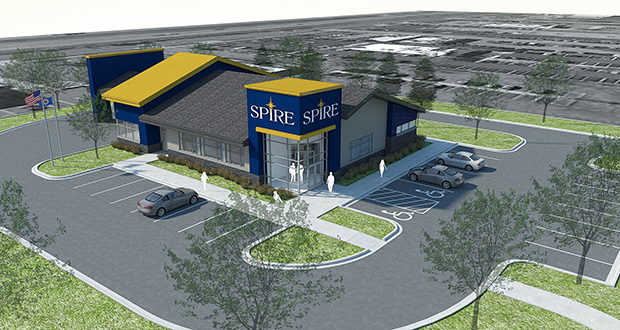 An Aug. 24 groundbreaking is set for this new SPIRE Credit Union at 1880 West Perimeter Drive in Roseville. (Submitted rendering: RSP)