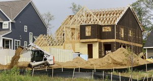This home under construction on 76th Street West in Inver Grove Heights is part of the Argenta Hills development. (Staff photo: Bill Klotz)