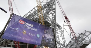 The Minnesota Sports Facilities Authority says its contingency fund is running about $10 million ahead of where it was scheduled to be for construction of the $1.1 billion Vikings stadium, which is scheduled for completion in July 2016. (File photo: Bill Klotz)