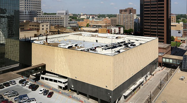 The St. Paul Port Authority confirmed Tuesday it is close to introducing the master developer that will take the reins of a massive redevelopment project focusing on a shuttered Macy's in the city's downtown. The Minnesota Wild hockey team is considering a rooftop practice rink at the site. (File photo: Bill Klotz)