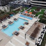 On Nic on Fifth's sixth-floor outdoor rooftop, residents can run their dogs and take advantage of a pool, fire pits, cabanas and a garden path. (File Photo: Craig Lassig)