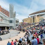 Located next to Target Field, the station includes a public plaza with a 1,000-seat amphitheater for events and concerts. (Submitted photo: Morgan Sheff)