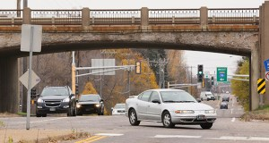 The Minnesota Department of Transportation plans to start construction next spring on a replacement of this structurally deficient Highway 36 bridge over Lexington Avenue in Roseville. Staff photo: Bill Klotz