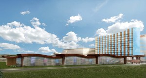 Mystic Lake hopes to start construction this spring on this nine-story, 180-room hotel and convention center, which will be attached to the existing 586-room Mystic Lake Hotel at 2400 Mystic Lake Blvd. NW in Prior Lake. (credit: Submitted rendering: Shakopee Mdewakanton Sioux Community)