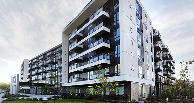 Arcata Apartments has 165 units ranging in size from 526 to 1,156 square feet and offers studios, one-bedrooms, one-bedrooms plus dens and two-bedrooms. (credit: Bill Klotz)