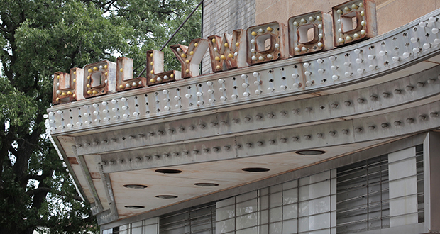 Built in 1935, the Hollywood Theater was considered an architectural marvel and became an instant landmark on the now defunct Bryant-Johnson streetcar line in northeast Minneapolis. File photo: Bill Klotz