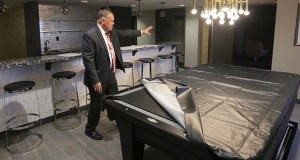 InterContinental General Manager Timothy James Blaschke shows off the hotel's penthouse suite, which features a poll table. InterContinental General Manager Timothy James Blaschke shows off the hotel's penthouse suite, which features a pool table. Credit: Bill Klotz