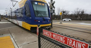 Two people have been struck by light rail trains at the Blue Line's 46th Street Station in December in Minneapolis. One of the victims died. Metro Transit is reviewing its light rail transit safety procedures and equipment after five accidents in less than two weeks. Staff photo: Bill Klotz