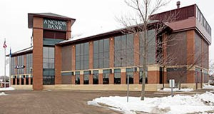 St. Paul-based Anchor Bank has repurchased its Woodbury office building at 1920 Donegal Drive from a group of local investors for $3.63 million. (Submitted photo: CoStar)