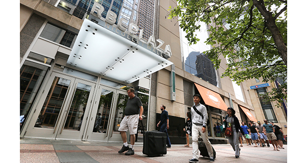 "RBC Plaza at 60 S. Sixth St. in Minneapolis won the Building Owners and Managers Association of Greater Minneapolis' ""Renovated Building"" award. File photo: Bill Klotz"