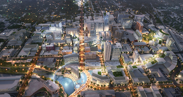 A massive build-out of downtown Rochester generated $152.4 million in private investment between July 2013 and the end of 2015, putting it on track to hit a $200 million milestone this year. Submitted rendering