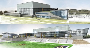 The Minnesota Vikings this week detailed plans to build new team offices and a practice facility in Eagan, including a football field that will accommodate up to 10,000 fans. The complex marks the first phase of a planned redevelopment on nearly 200 acres in the northern part of the city, currently home to the former headquarters of Northwest Airlines. Submitted rendering: Minnesota Vikings