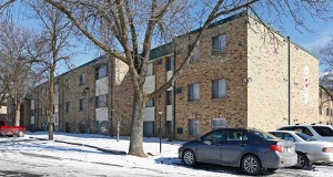Minneapolis-based affordable housing developer Aeon has added two apartment properties to its portfolio, including the 109-unit Goldenstar Apartments at 315 Larpenteur Ave. E. in Maplewood. (Submitted photo: CoStar)