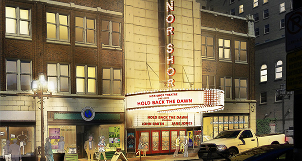 The historic NorShor Theater, at 2 N. Second Ave. E. in downtown Duluth, is getting a $30.5 million makeover. (Submitted image: Sherman Associates)