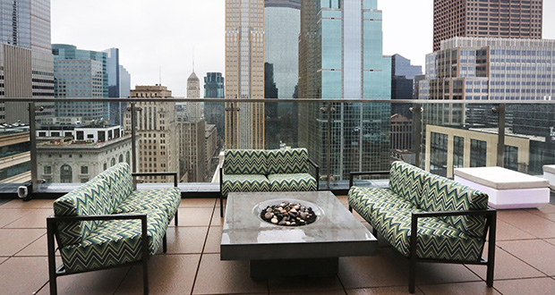 A large penthouse and roof deck serves all of 4Marq's tenants and is available in all seasons. (File photo: Bill Klotz)