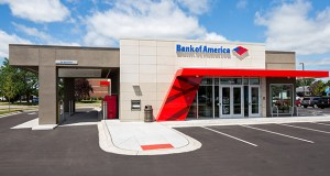 Bank of America used this design to build new branches at 7510 147th St. in Apple Valley and 355 Radio Drive in Woodbury. (Submitted photo: Bank of America)