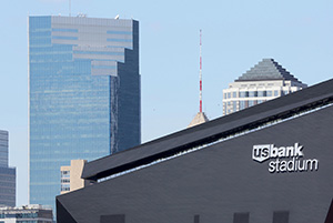 "With time and weather, the stadium's panels will age to ""kind of a dark, gray, silvery luster,"" an HKS architect said."