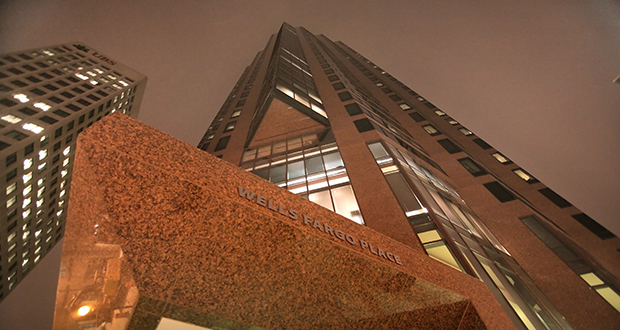The 37-story Class A office tower at E. Seventh St. is owned by Unilev Capital Corp. (File photo)