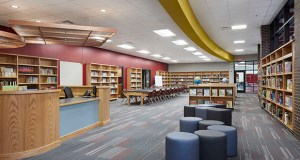 The media center is one of several amenities in the new Pine Island Elementary School. (Submitted photo)